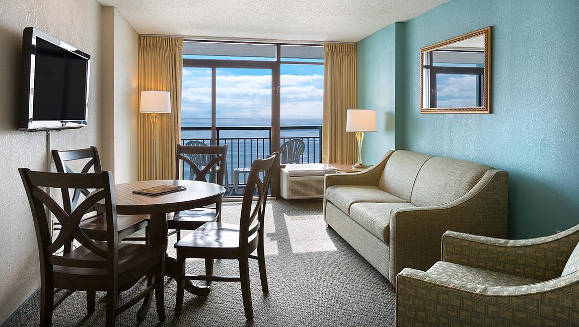 Landmark Resort Oceanfront Suite Living Room