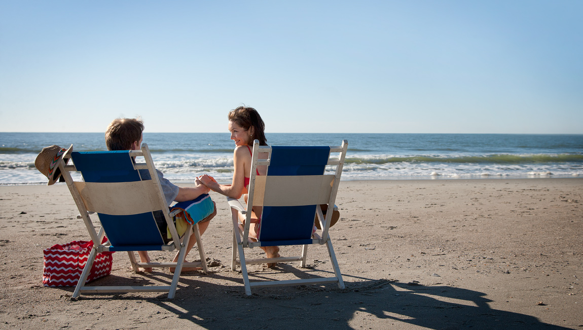 Couple on Beach Chairs in Myrtle Beach