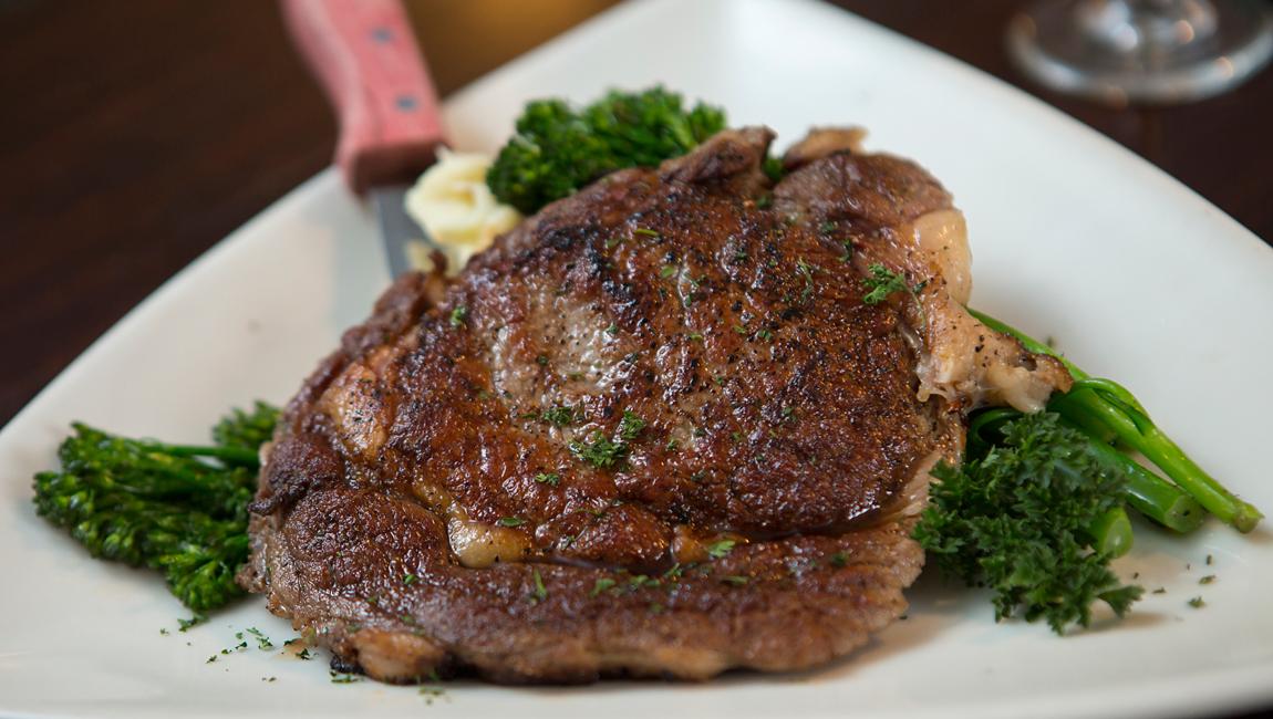 Steak dinner at Landmark
