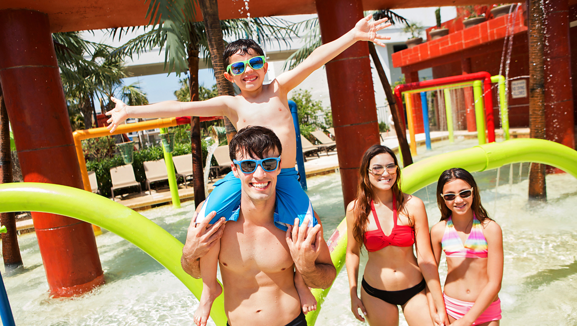 family at h2oasis waterpark