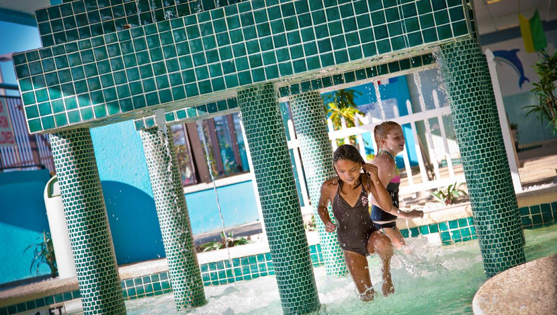 Landmark indoor kiddie pool