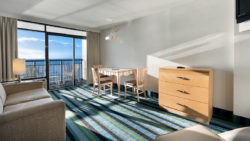 Suite with oceanfront view