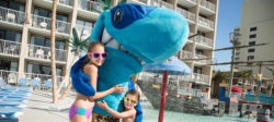 Kids with Salty the Shark mascot