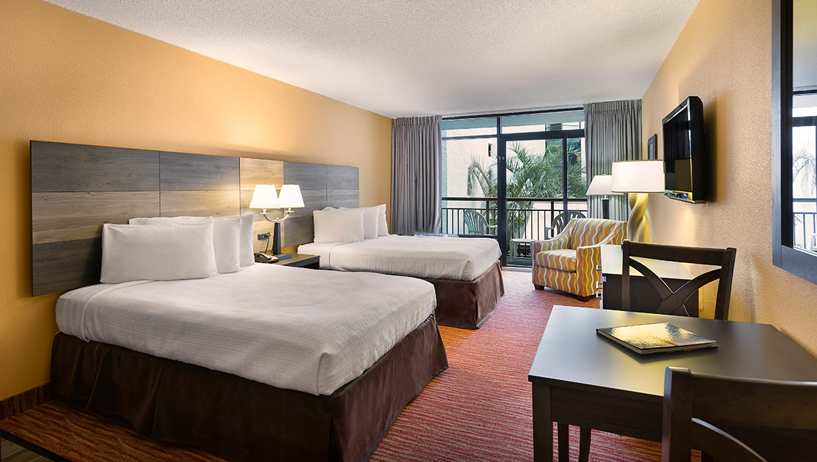 Landmark Resort Interior Room Myrtle Beach with 2 Beds