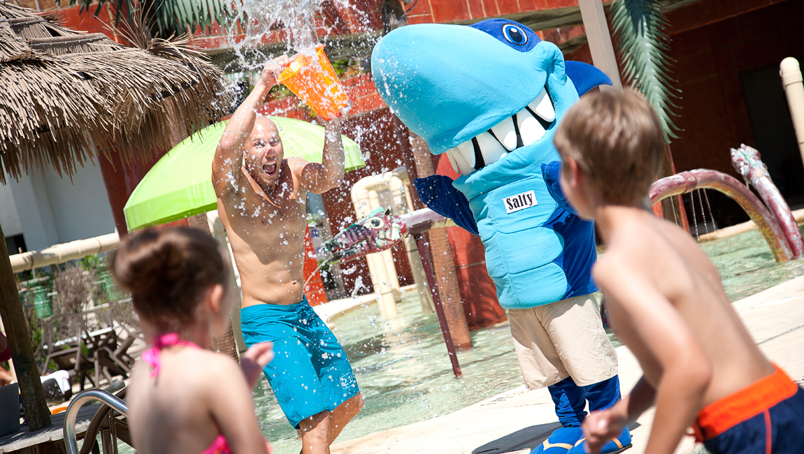 salty the shark and kids