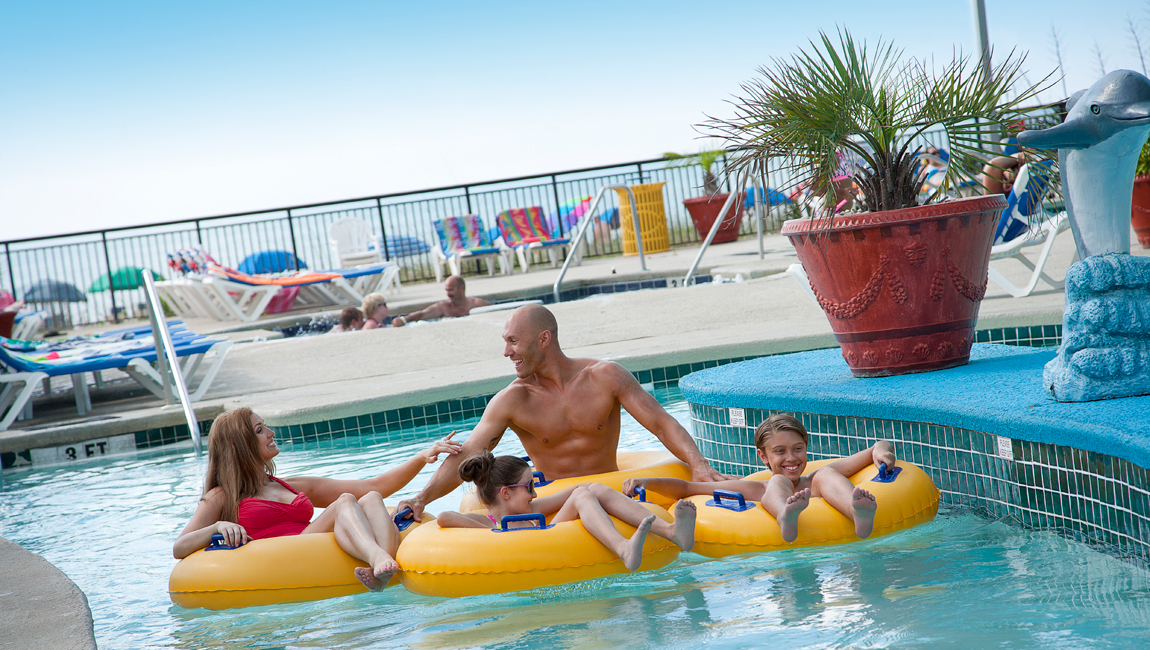 Lazy river at Landmark
